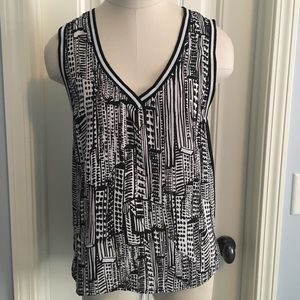 Sam Edelman Women's Small Tank Top Black & White